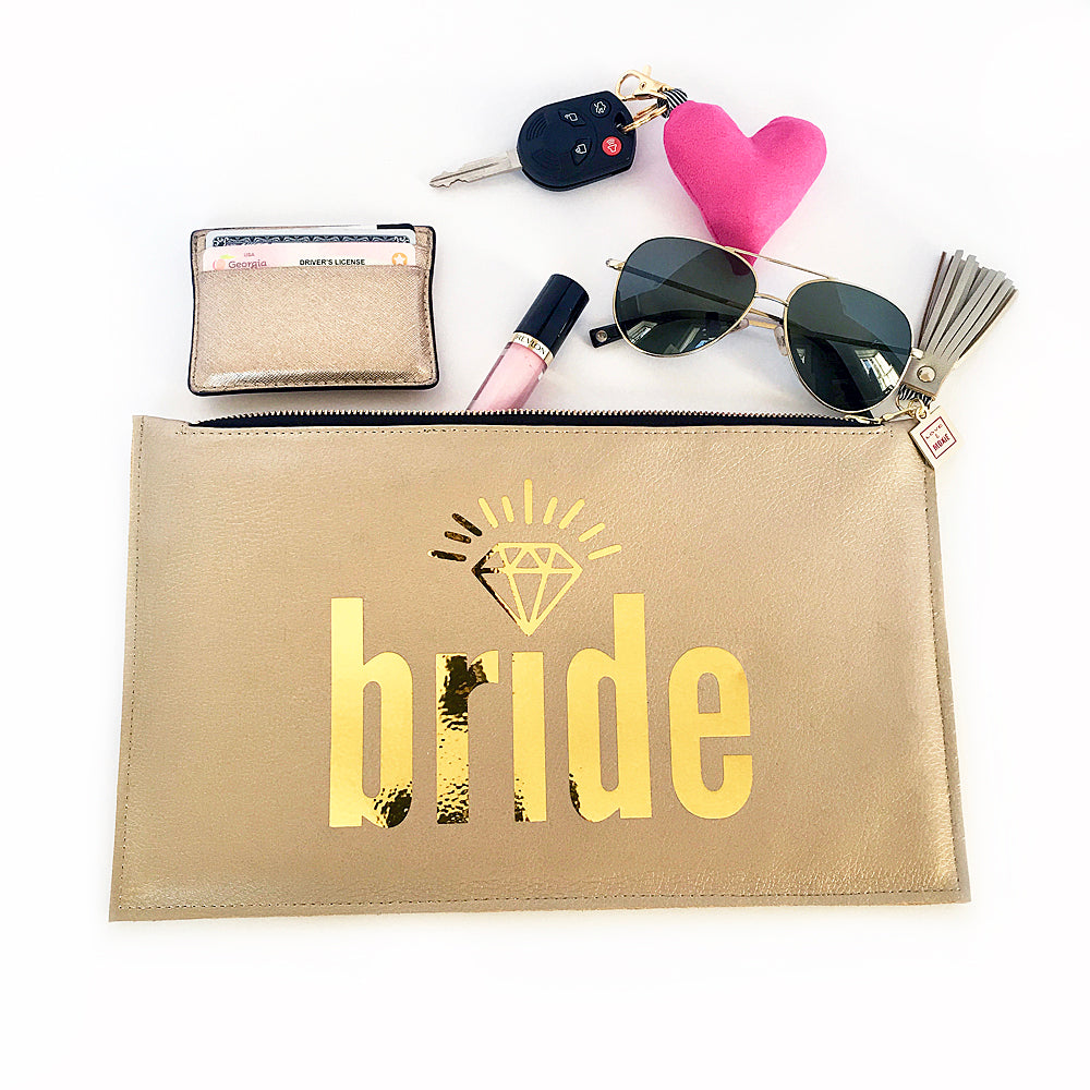 vegan leather bride clutch