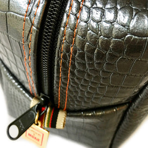 Chesterfield Charcoal Crocodile Biggi Travel Bag