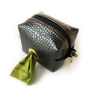 Chesterfield Gray Crocodile Doggie Waste Bag Holder