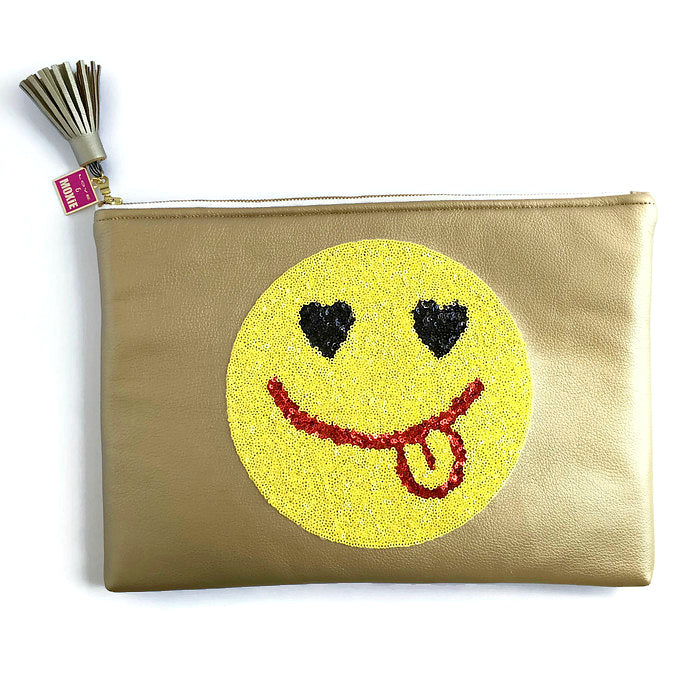 heart eye emoji laptop case
