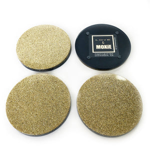 Felicity Hand Poured Resin Coaster Set - Navy