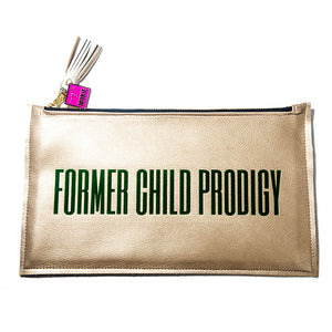 Former Child Prodigy Gold Clutch Bag