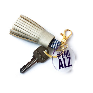 Alzheimer's Awareness Bag Charm & Key Chain