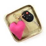 pink heart key chain