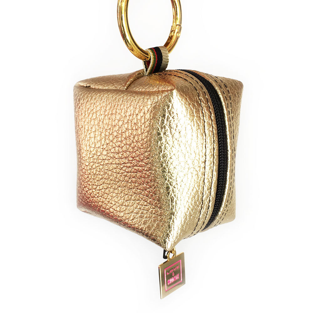 Ainsley Gold Mini Mini Clip-on Bag