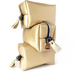 gold vegan leather boxy bag by Love & Moxie