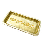 gold glitter trinket tray