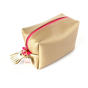 pink and gold boxy bag by Love & Moxie