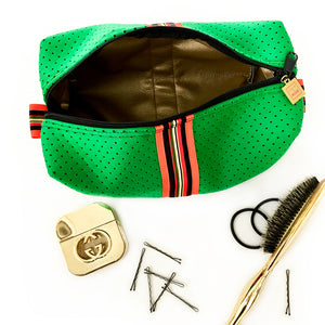 preppy green travel bag