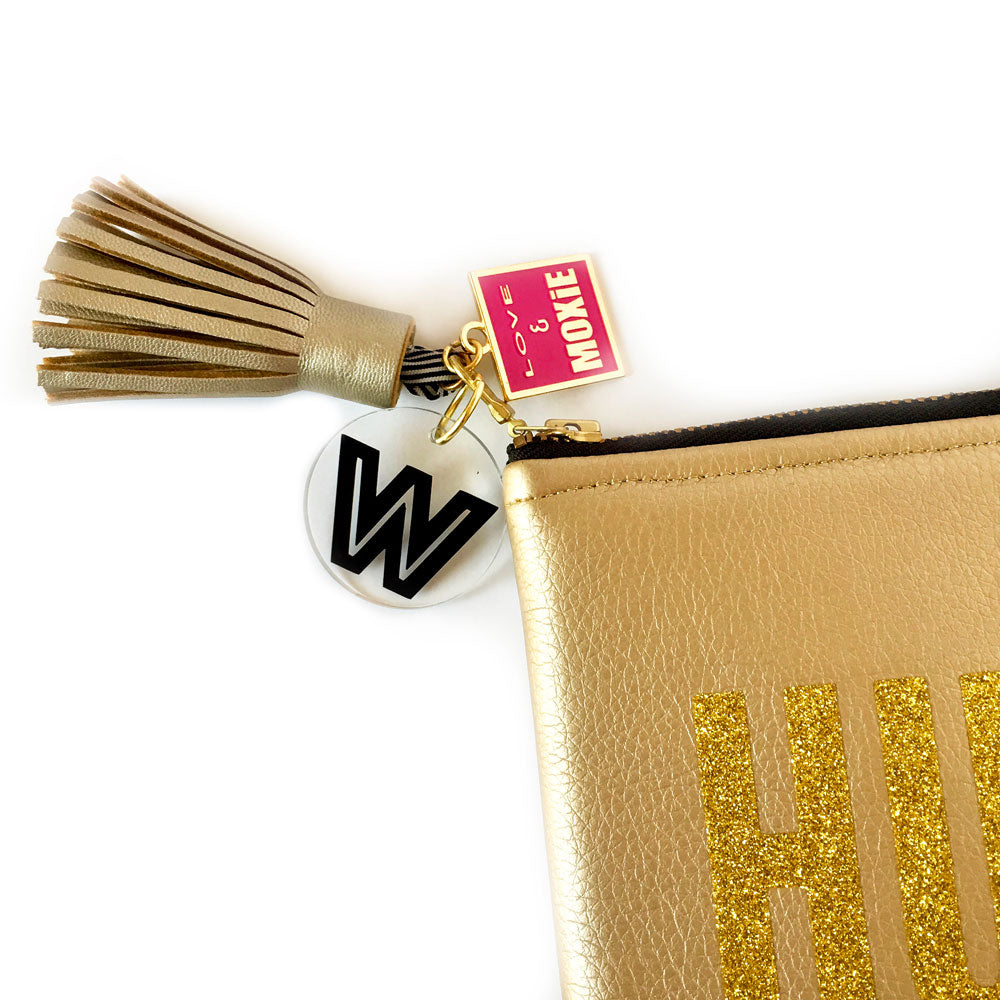Glitter Hustlin' Gold Clutch