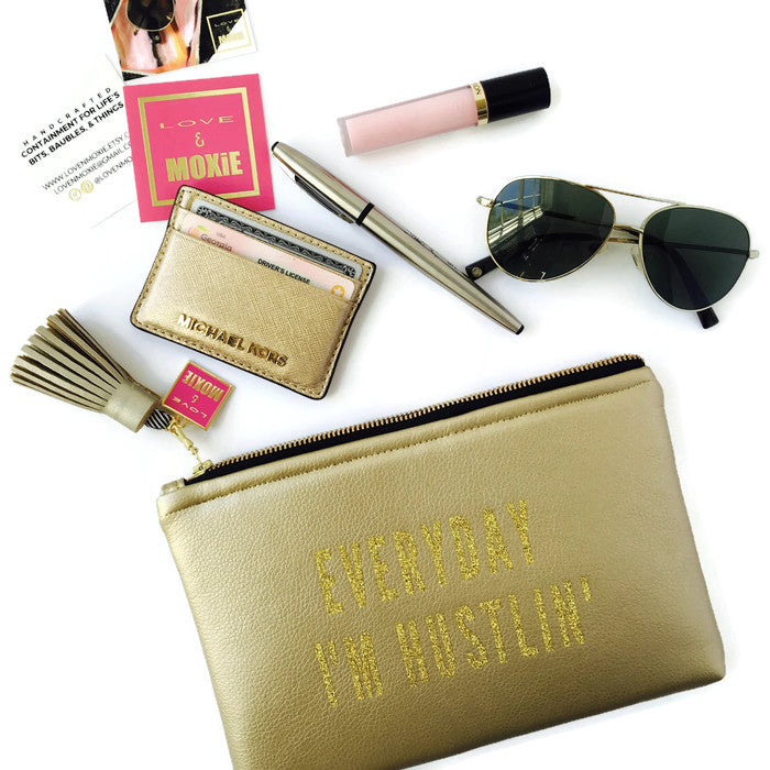 Polka Dot Hustlin' Gold Clutch