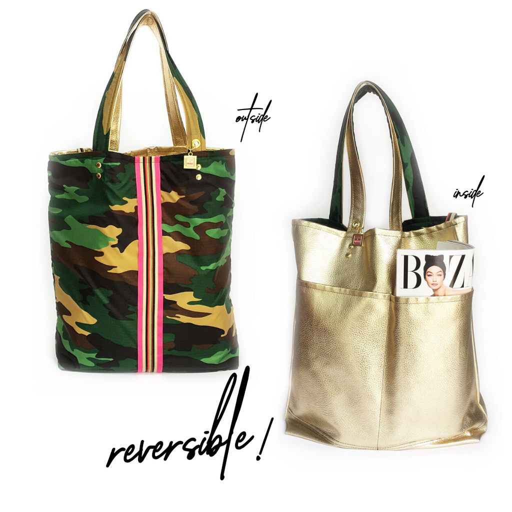Washington Camo Reversible Tote