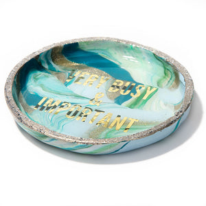 Marbled Very Busy & Important Ring Dish
