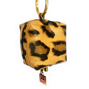 Sloane Leopard Mini Mini Clip-on Bag