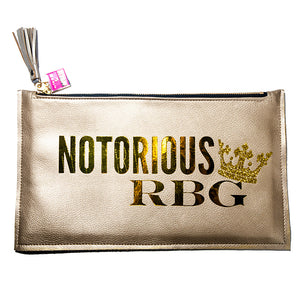 Notorious RBG Gold Clutch Bag