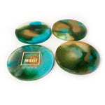Savannah Hand Poured Resin Coaster Set