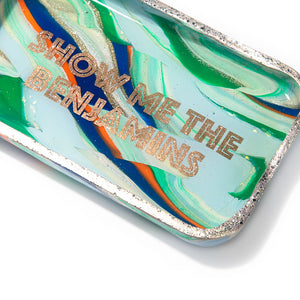 Marbled Show Me the Benjamins Trinket Tray