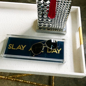 Slay All Day Hand Poured Resin Tray