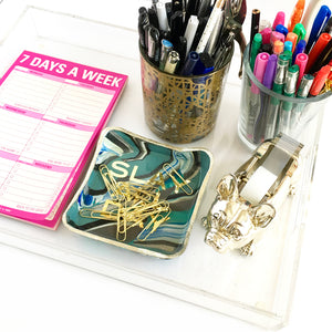 Make it Work Marbled Trinket Tray