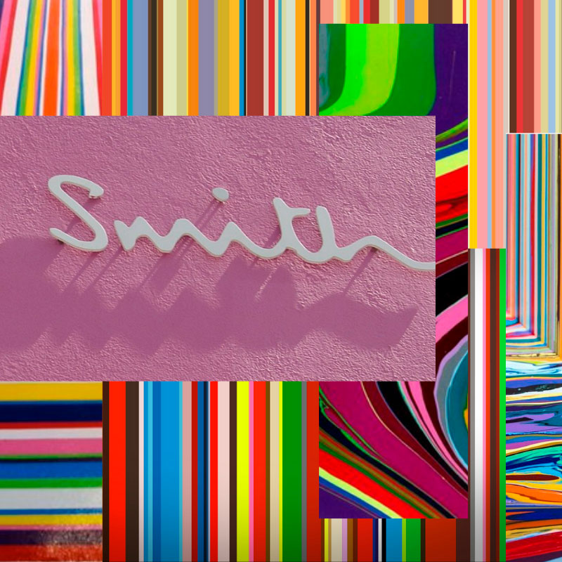 Smith Hand Poured Resin Striped Tray