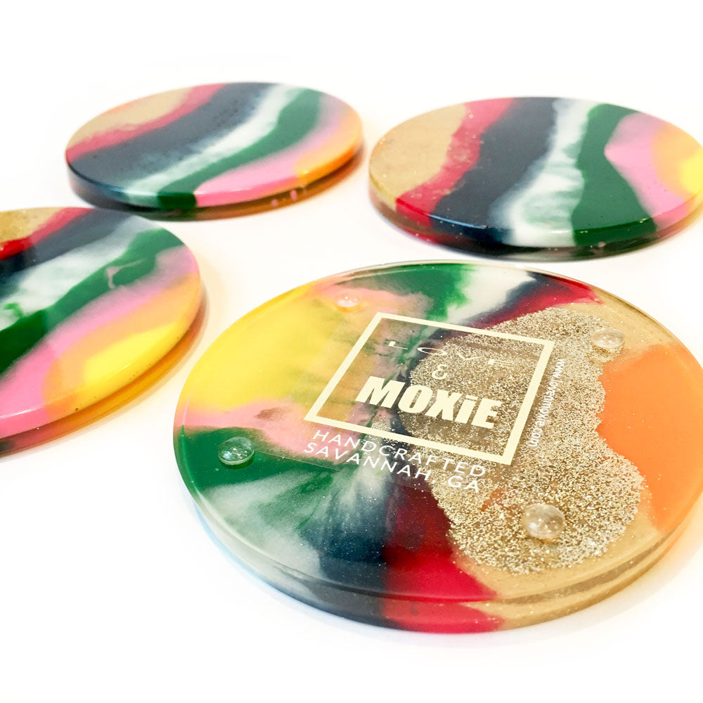 Smith Hand Poured Resin Coaster Set