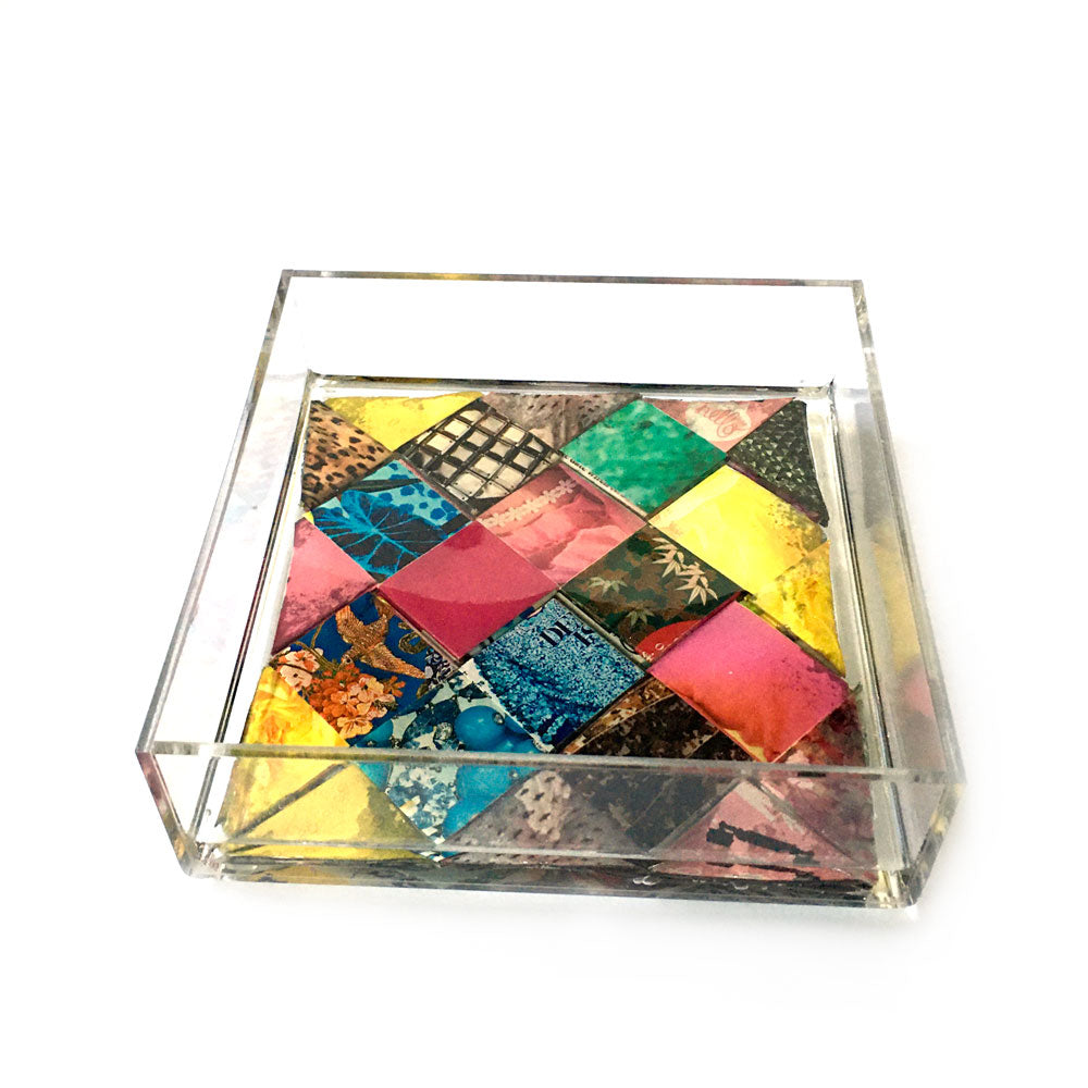 Square Origami Magazine Resin Tray