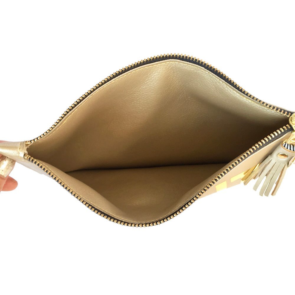 Times Up Gold Clutch Bag