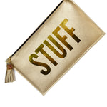 Stuff Gold Clutch Bag