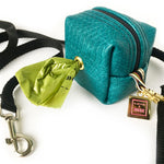 Bridget Teal Reptile Doggie Waste Bag Holder