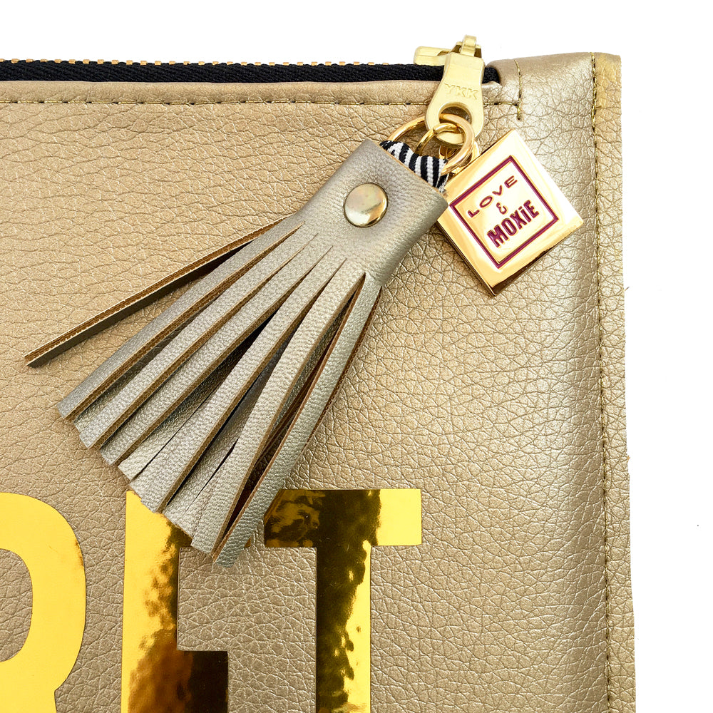 Top Secret Gold Clutch Bag