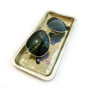 gold catchall tray