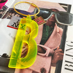 Jumbo Letter Bag Charm & Keychain - Yellow
