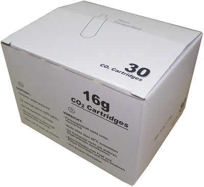 CO2 16g Cartridge Threadless (30 pack)