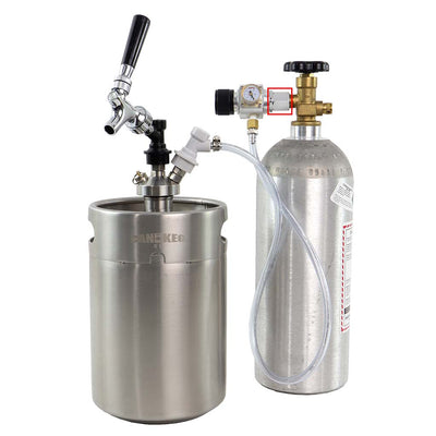 Regulator to full size CO2 tank