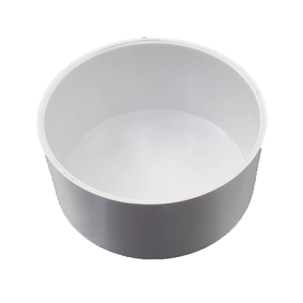 "PVC 3"" End Cap (White)"