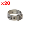 (20 PACK) Stainless Step-less Clamp (7-10mm OD)