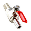 "Ball Valve With Check - 1/4"" Male NPT X 3/8"" OD Barb"