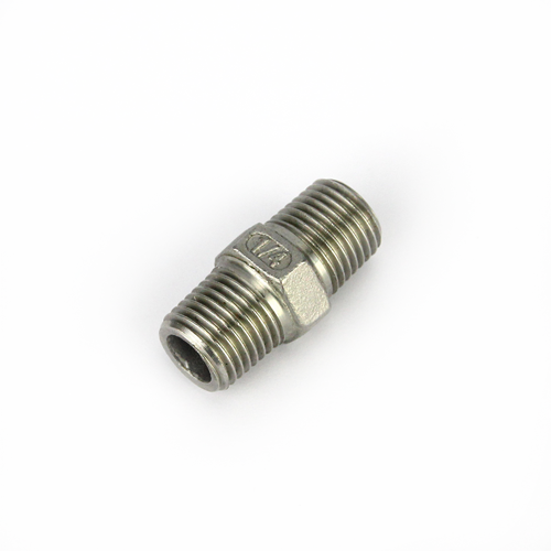 1/4 INCH BSP STAINLESS HEX NIPPLE