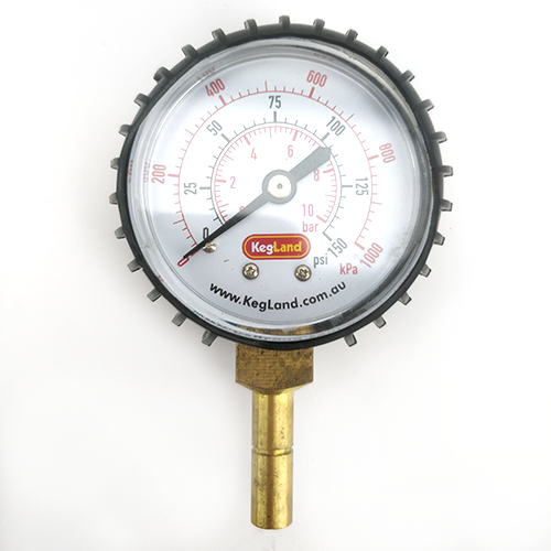 PUSH IN PRESSURE GAUGE 0-150PSI