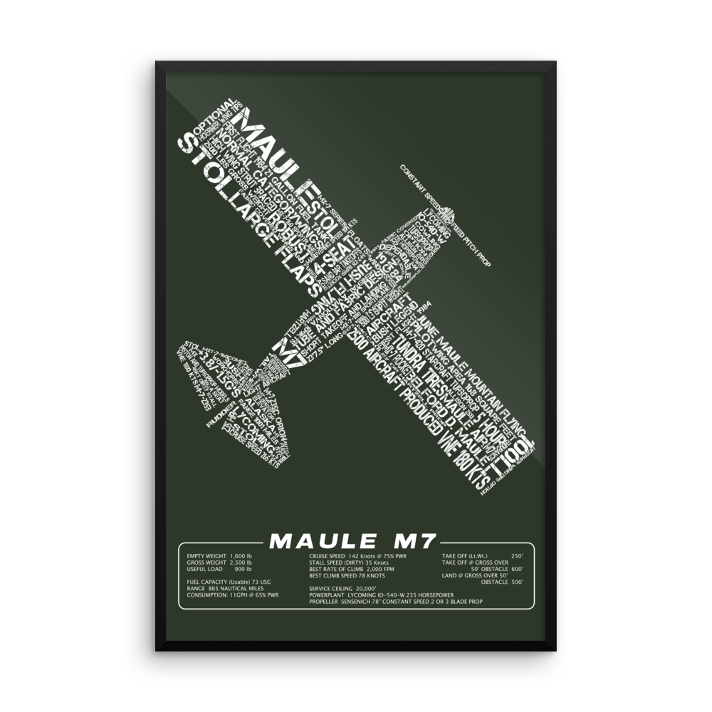Maule M7 Aircraft Typography Art