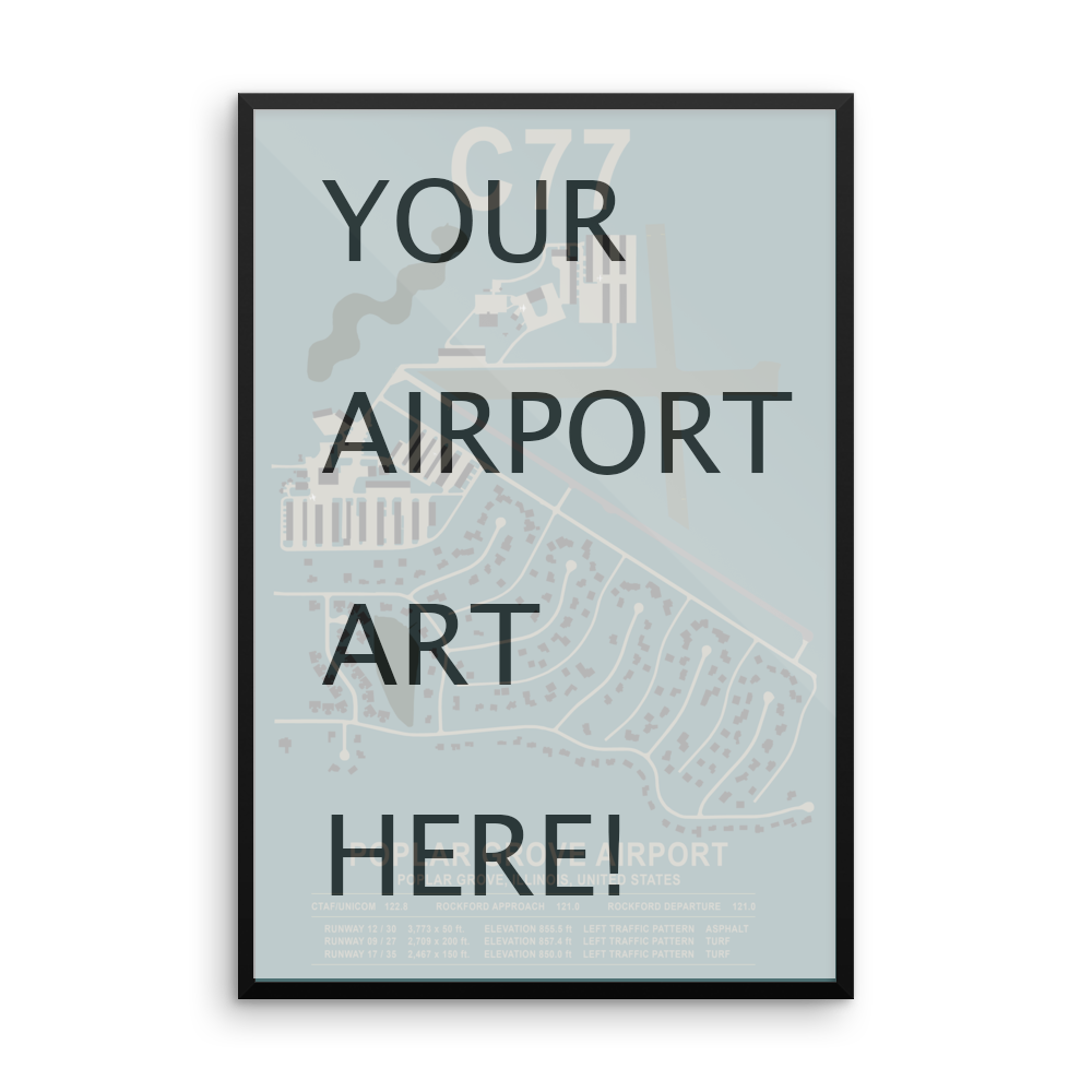 Commission new airport diagram layout art designed for flight product image 1 ccuart Images