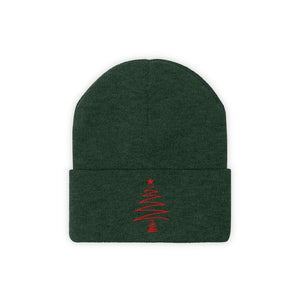 Red X Tree Beanie