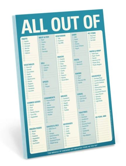 All Out Of® Pad with Magnet (Blue)