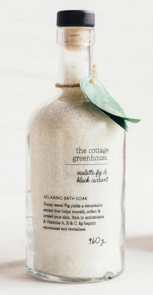 The Cottage Greenhouse Violette Fig & Black Currant Bath Soak