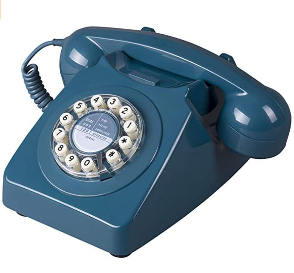 Retro Telephone 746 in Biscay Blue