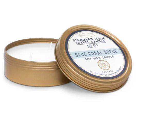 Standard Issue Travel Candle | Blue Coral Suede