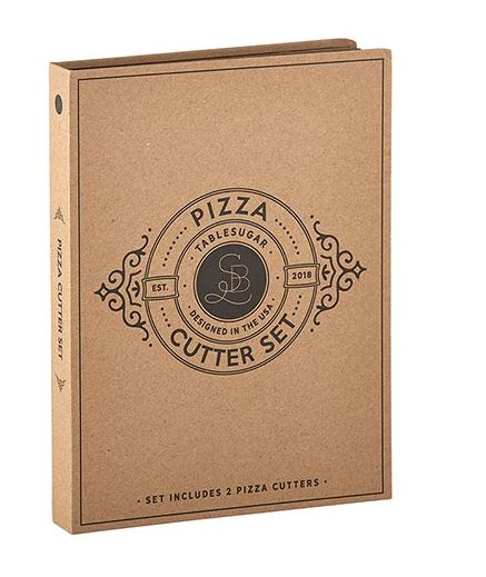 Cardboard Pizza Cutter Set