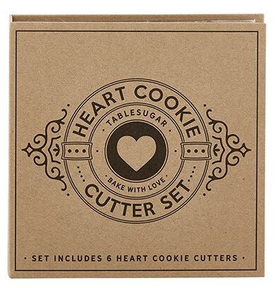 Cardboard Book Set - Heart Cookie Cutters