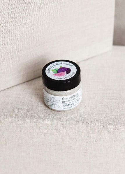 The Cottage Greenhouse Violette Fig & Black Currant Travel Size Fine Salt Scrub