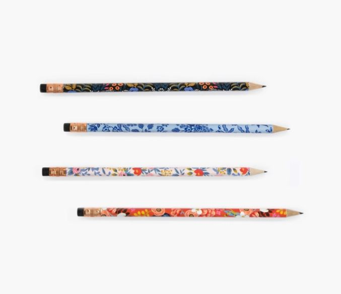 Floral Assorted Writing Pencils